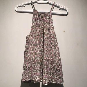 Joie Patterned Silk Blouse Size S